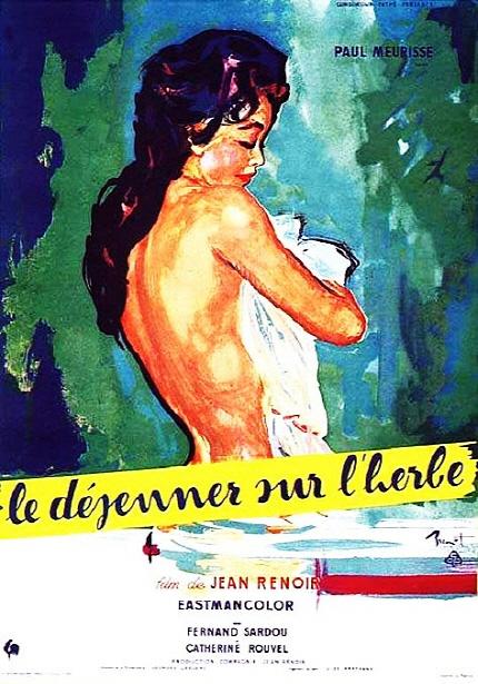 1959년으로의 여행 상영작 <풀밭 위의 오찬> 포스터 이미지